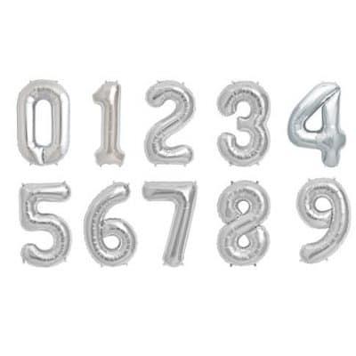 Sifferballonger Silver 86 cm till festen är perfekt när det är dags för födelsedagsfirande