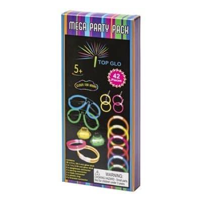 Glow Sticks Party Pack är ett paket med flera olika glowsticks accessoarer, perfkt till melodifestivalen