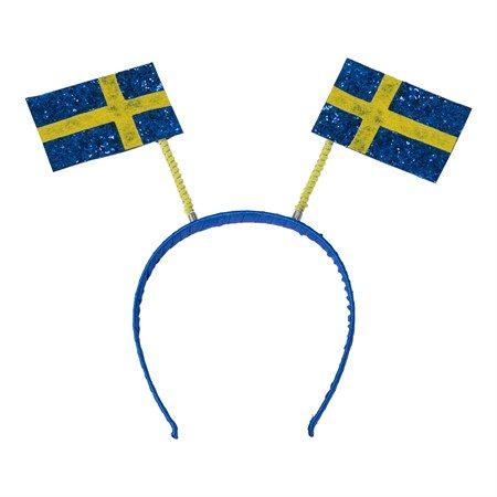 Diadem till fest med Sverigeflaggor på till midsommar och student.